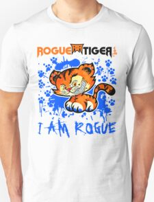 RogueTiger.com - Smirk Logo Blue (light) T-Shirt