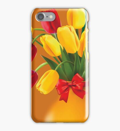 Red &Yellow Tulips   iPhone 5 Case / iPhone 4 Case  iPhone Case/Skin