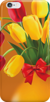 Red &Yellow Tulips   iPhone 5 Case / iPhone 4 Case  by CroDesign