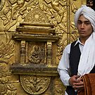 Dressed for the chariot festival, Kathmandu by John Spies