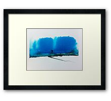 Landscape in Brush and Ink 2012 Framed Print