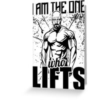 Breaking Bad I Am The One Who Lifts Gym Greeting Card