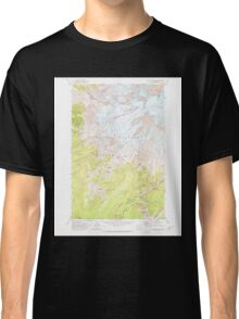 USGS Topo Map Washington State WA Mt Rainier West 242660 1971 24000 Classic T-Shirt