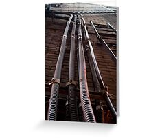 Pipes On A Wall Greeting Card
