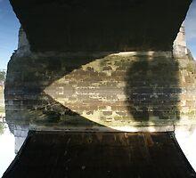 Upside down? (under Chiswick Bridge, London) by Adam Symes