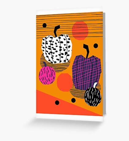 Yar - pumpkin halloween fall autumn throwback retro style fashion urban trendy 1980s 1980 80s 80's Greeting Card