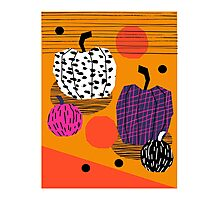 Yar - pumpkin halloween fall autumn throwback retro style fashion urban trendy 1980s 1980 80s 80's Photographic Print