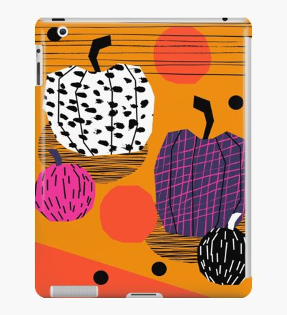 Yar - pumpkin halloween fall autumn throwback retro style fashion urban trendy 1980s 1980 80s 80's iPad Case/Skin