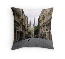 Towards the cathedral Throw Pillow