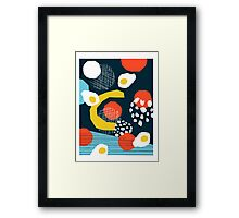 Clutch - vintage memphis style retro throwback 1980s 1980's 80s 80's design illustration pop art Framed Print