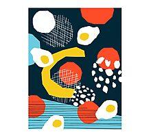 Clutch - vintage memphis style retro throwback 1980s 1980's 80s 80's design illustration pop art Photographic Print