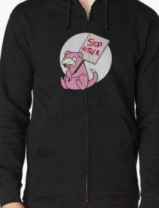 Slowpoke Protest Zipped Hoodie