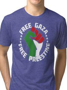free gaza free palestine Tri-blend T-Shirt
