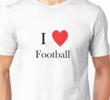i love football heart Unisex T-Shirt