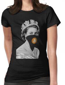Queen Bitcoin Bandit Geek Womens Fitted T-Shirt