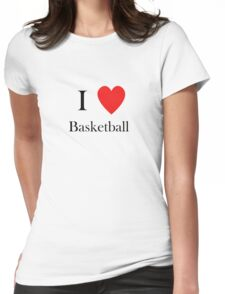 I love basketball heart hoops Womens Fitted T-Shirt
