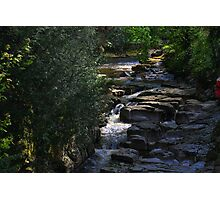 The Devil's Gorge, River Greta, Light and Shadow, England Photographic Print
