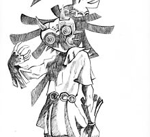 Pen and Ink Skull Kid by natpag