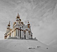 winter in St. Andrew's Church, Kiev, Ukraine by MMinakov