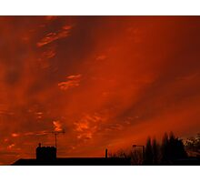 December sunset in a London suburb Photographic Print