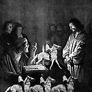 Jesus before Caiaphas. by Andrew Nawroski