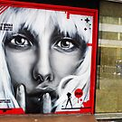 Street Art in London '' I like it when a girl can walk right by'' by Sherion