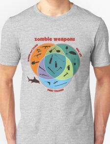 Zombie weapons Unisex T-Shirt