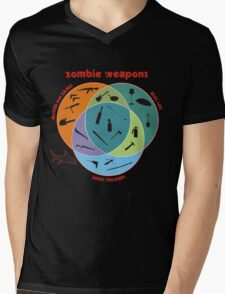 Zombie weapons Mens V-Neck T-Shirt