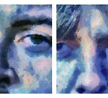 Beatles in Blue Collage by leapdaybride