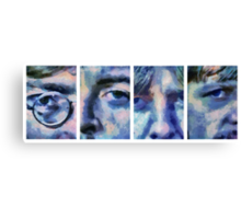 Beatles in Blue Collage Canvas Print