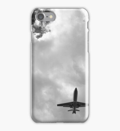 Flying (black and white) iPhone Case/Skin