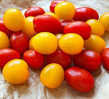 Red and Yellow Cherry Tomatoes by MarkUK97