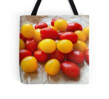 Red and Yellow Cherry Tomatoes Tote Bag