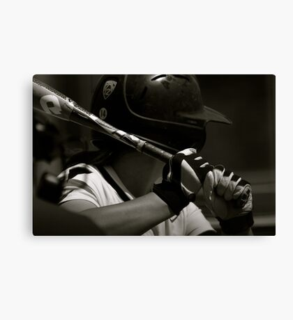 Waiting On A Pitch Canvas Print