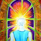 Cosmic Portal - Original Visionary painting by jonkania