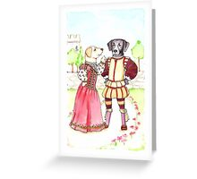 Katherine and Petruchio Labs, Taming of the Shrew Greeting Card