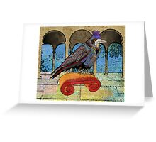 Well Dressed Raven Greeting Card