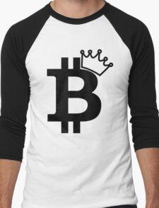 Bitcoin King T Shirt Men's Baseball ¾ T-Shirt