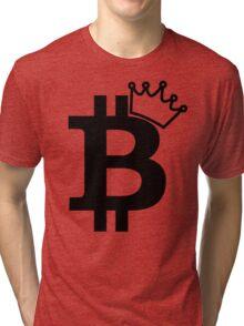 Bitcoin King T Shirt Tri-blend T-Shirt