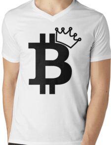 Bitcoin King T Shirt Mens V-Neck T-Shirt