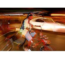 Night Taxi Photographic Print