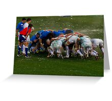 England v Italy Rugby scrum 2012 Greeting Card