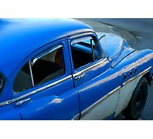 Blue Chevy Photographic Print