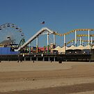 Ferris Wheel At Santa Monica Pier by Merilyn