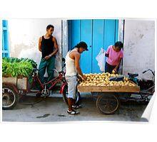 Havana Street Vendor Poster