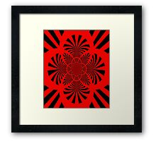 Red & Black Framed Print