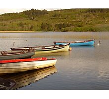 Fishing Boats On Lough Finn Photographic Print