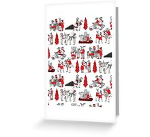 Woodland Christmas - Scarlet by Andrea Lauren  Greeting Card