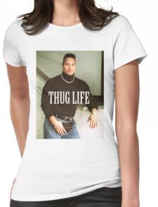 Throwback - Dwayne Johnson Womens Fitted T-Shirt