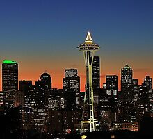 Seattle Sunrise by benjamphotos